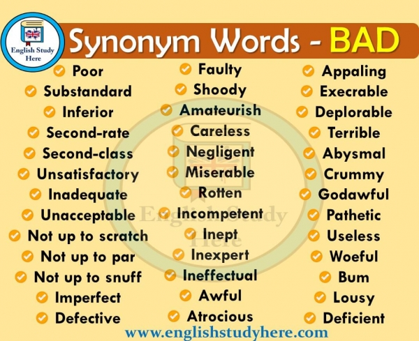1318 Words Related To Bads Bads Synonyms Bads Antonyms Word List Research It conatins accurate other and similar related words for no problem. word list research